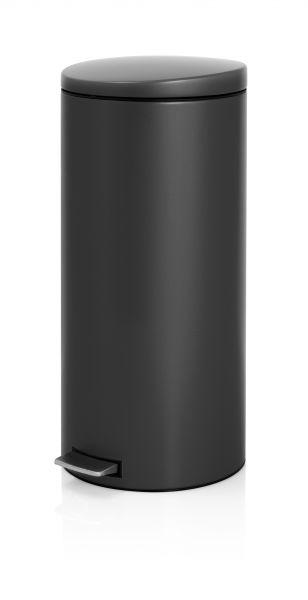 Brabantia Pedaalemmer 30 Liter Mat Rvs.Pedaalemmer Silent 30 Liter Brabantia Mat Zwart Mat Rvs