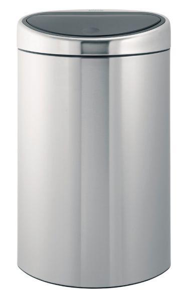 Brabantia Prullenbak 40 Liter.Brabantia Touch Bin Halfronde Afvalbak Met Touchdeksel 40 Liter Mat Rvs Fpp