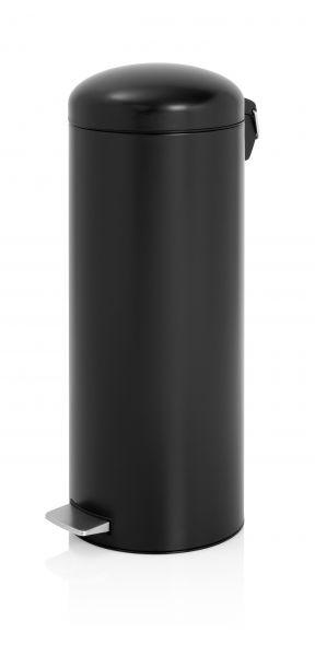 Brabantia 20 Liter Pedaalemmer.Pedaalemmer Retro 20 Liter Brabantia Mat Zwart