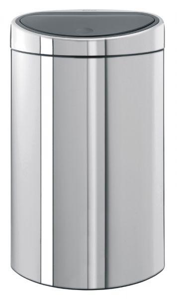 Brabantia Vuilnisbak 40 Liter.Brabantia Touch Bin Halfronde Afvalbak Met Touchdeksel 40 Liter Rvs