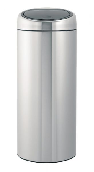 Brabantia Prullenbak 30 Liter.Brabantia Touch Bin Ronde Afvalbak Met Touchdeksel 30 Liter Mat Rvs Fpp