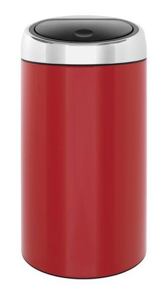 Prullenbak Brabantia Touch Bin 45 Liter.Brabantia Touch Bin Ronde Afvalbak Met Touchdeksel 45 Liter Rvs Lipstick Red