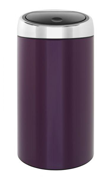Prullenbak Brabantia Touch Bin 45 Liter.Brabantia Touch Bin Ronde Afvalbak Met Touchdeksel 45 Liter Rvs Violet Purple